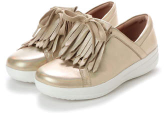 FitFlop (フィットフロップ) - フィットフロップ FitFlop F-SPORTY II LACE UP FRINGE SNEAKERS-IRIDESCENT LTR