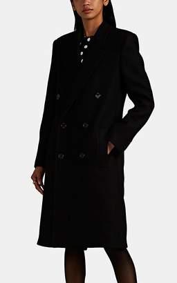 Saint Laurent Women's Wool-Blend Felt Double-Breasted Topcoat - Black