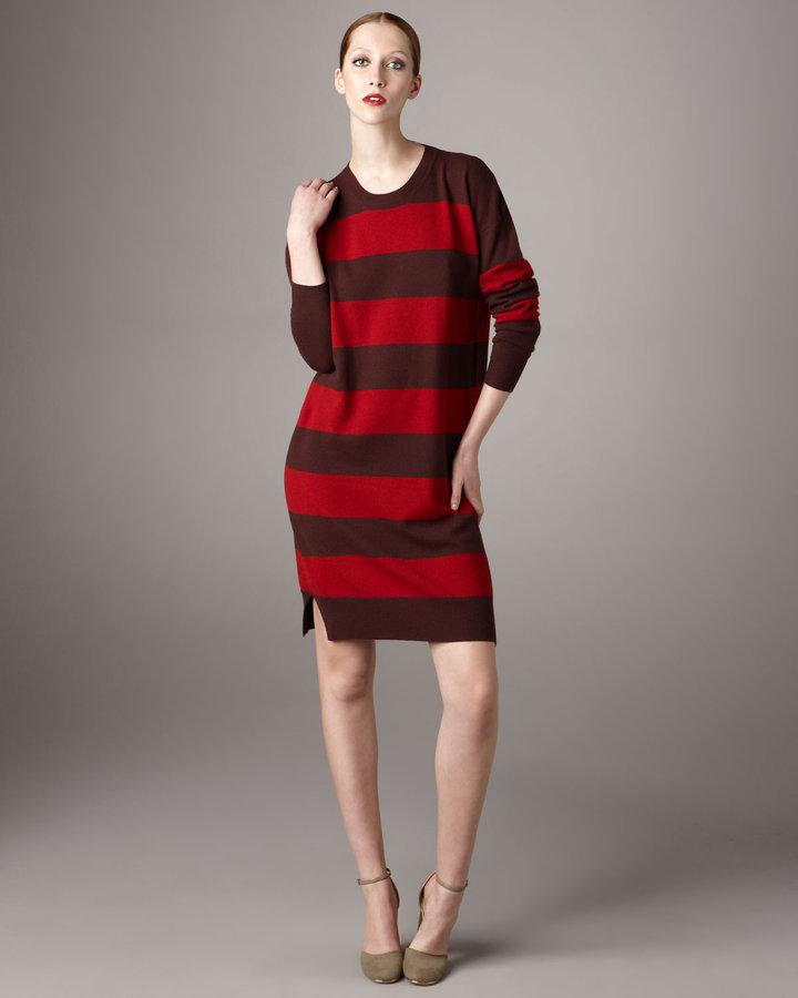 Stella McCartney Striped Crewneck Sweater Dress