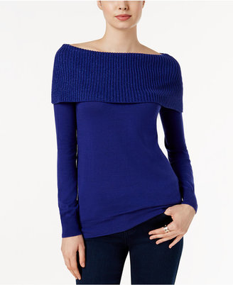 MICHAEL Michael Kors Off-The-Shoulder Sweater $98 thestylecure.com