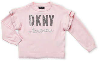 DKNY Girls 4-6x) Ruffled Trim Sweater