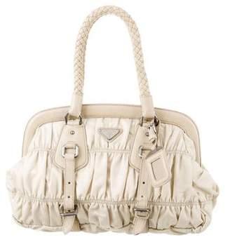 893705e5428d ... usa pre owned at therealreal prada tessuto gaufre frame bag 58979 4bd5d