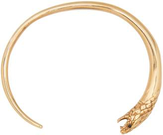 Celine Reptile bracelet in crystals and brass
