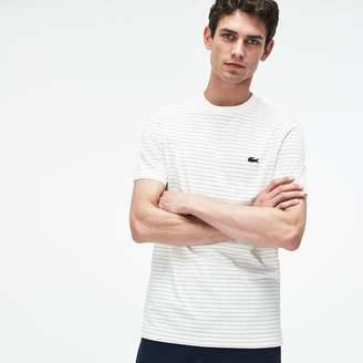 Lacoste Men's Crew Neck Net Print Cotton Jersey T-shirt