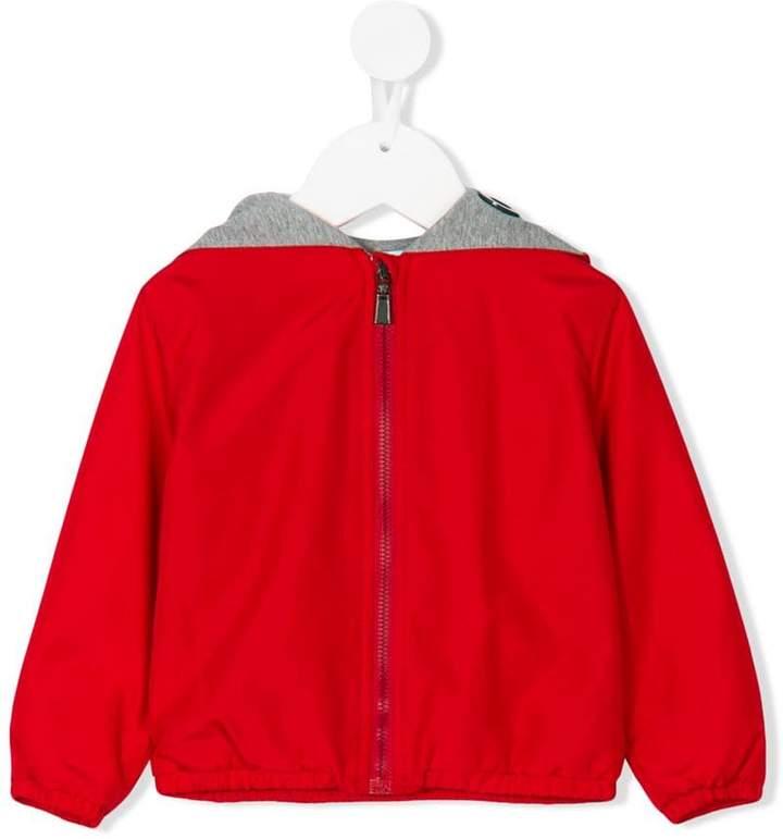 Medusa print hooded jacket