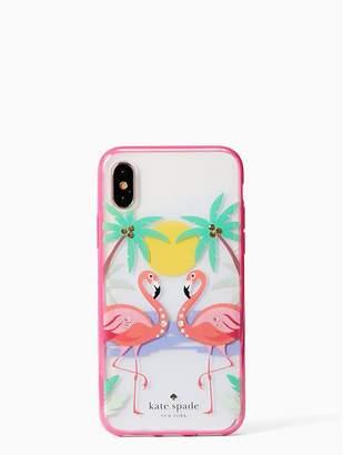 Kate Spade jeweled flamingos iPhone X case