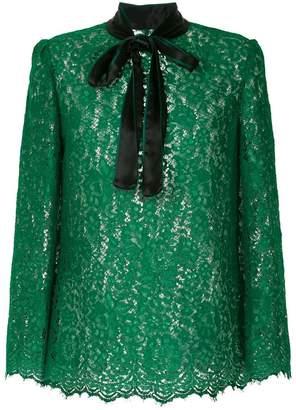 Dolce & Gabbana lace pattern blouse