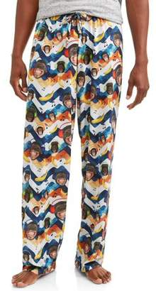 Owl Night Long Mens Funky Print Jersey Sublimation PJ Pants with Drawstring