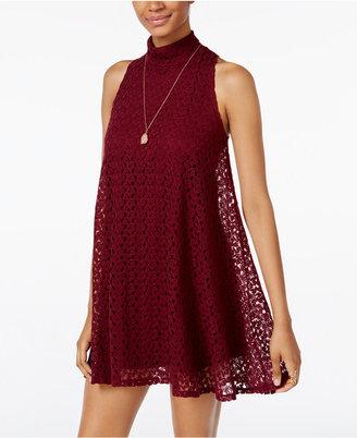 Planet Gold Juniors' Crocheted Shift Dress $39 thestylecure.com