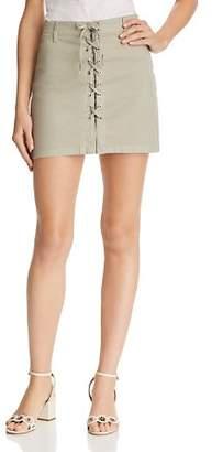 J Brand Talia Lace-Up Mini Skirt