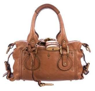 Chloé Leather Padlock Satchel