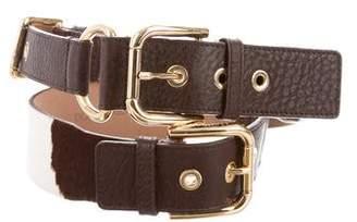 Dolce & Gabbana Ponyhair Waist Belt