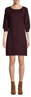 Eliza J Cable-Knit Shift Dress