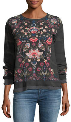 Johnny Was Nindi Embroidered Thermal Pullover, Plus Size
