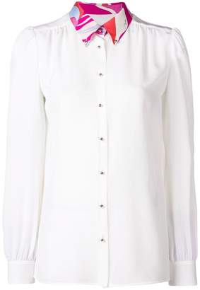 Emilio Pucci gathered button-down blouse