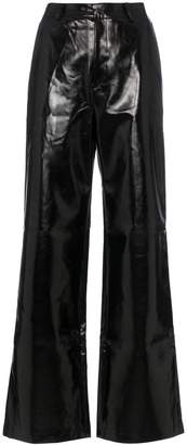 Charm's high waisted straight leg leather trousers