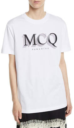 McQ Short-Sleeve Logo Crewneck Band Tee