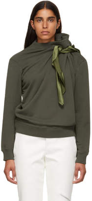 Y/Project Khaki Scarf Sweatshirt
