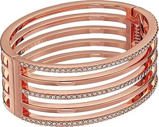 Vince Camuto Women's Crystal Pave and Metal Hinge Bangle Bracelet