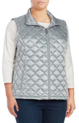 Calvin Klein Plus Plus Zip-Front Puffer Vest
