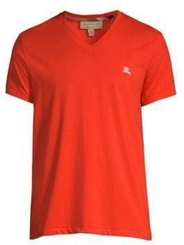 Burberry Jadford Cotton V-Neck T-Shirt