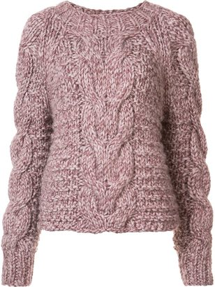 Ulla Johnson 'Francisca' cable handknit pullover $495 thestylecure.com