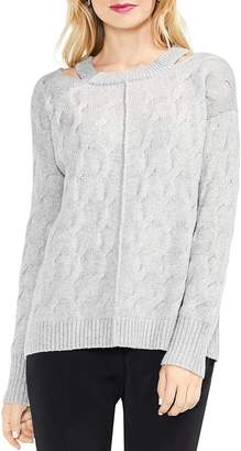 Vince Camuto Cutout Cable Sweater