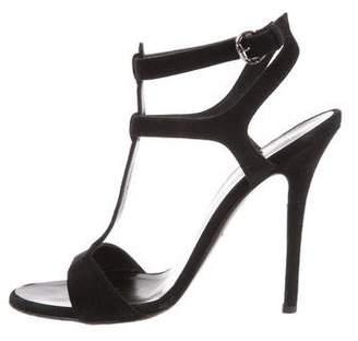 Giuseppe Zanotti x Balmain Suede T-Strap Sandals