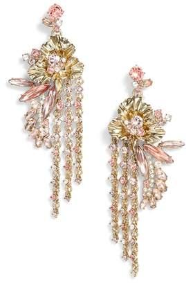 Givenchy Flower Fringe Earrings