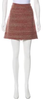 Alexander McQueen Virgin Wool Tweed Skirt