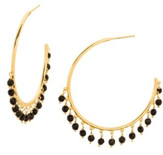 Women's Gorjana Sol Charm Hoop Earrings $70 thestylecure.com