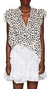 Ulla Johnson Women's Doria Floral Striped Cotton-Silk Blouse