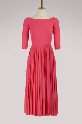Alexander McQueen Off-the-shoulder midi dress