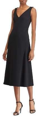 Ralph Lauren Crepe Midi Dress
