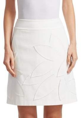 Akris Punto Laser Cut A-Line Mini Skirt