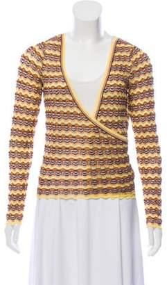 Missoni Wrap Knit Sweater Yellow Wrap Knit Sweater