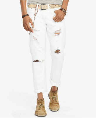 Denim & Supply Ralph Lauren Men's Slim-Fit Ripped Destructed Jeans $125 thestylecure.com