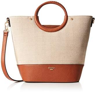 Dune Womens Doefield Shoulder Bag Brown (Tan-Canvas)