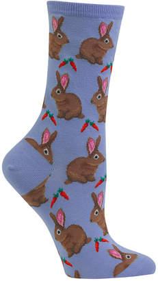Hot Sox Women's Bunnie Crew Socks