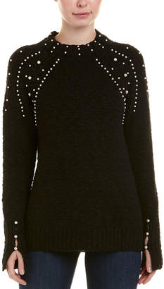 Kensie Beaded Pullover Sweater