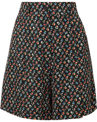 Paul & Joe Jomega Floral-print Poplin Shorts - Black