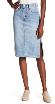 Levi's Side Slit Jean Skirt