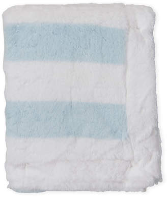 Petit Lem Newborn/Infant Girls) Blue Stripe Plush Blanket