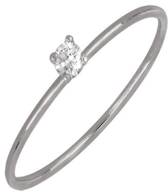 Bony Levy 18K White Gold Single Diamond Ring - 0.05 ctw