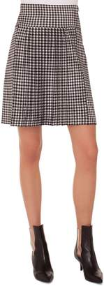Akris Punto Check Pleated Skirt