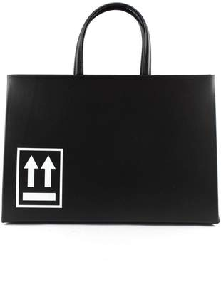 Off-White Off White Box Bag In Black Leather.