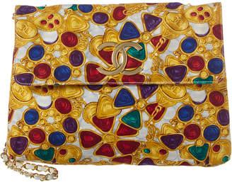 Chanel Multicolor Canvas Gripoix Shoulder Bag