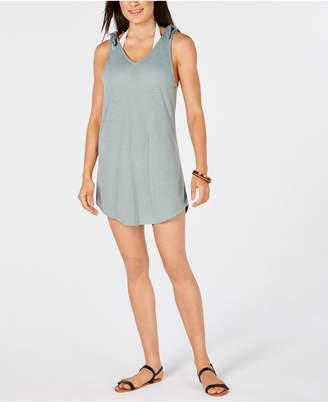 Miken Juniors' Tie-Shoulder V-Neck Cover-Up Dress, Women Swimsuit
