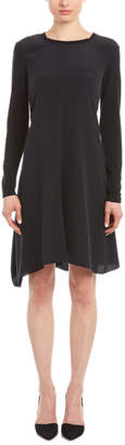 Magaschoni Silk & Cashmere-Blend Shift Dress