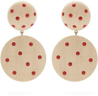 Rebecca De Ravenel Marina Clip Earrings - Womens - White